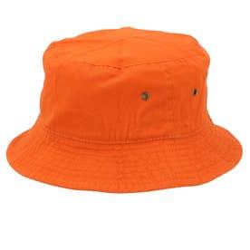 ノーブランド No Brand NEWHATTAN ニューハッタン #1500 stonewash BUCKET HAT solid (オレンジ)