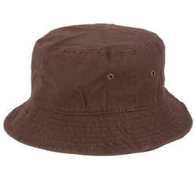 ノーブランド No Brand NEWHATTAN ニューハッタン #1500 stonewash BUCKET HAT solid (ダークブラウン)