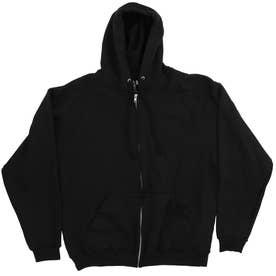 Fruit of the Loom 82230 12oz Full Zip Hood (Black)