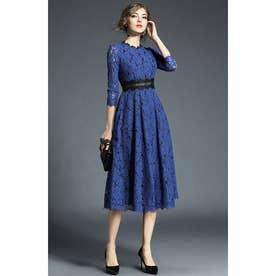 パーティードレス 刺繍 (ブルー)