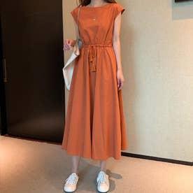 ノーブランド No Brand hay725040 夏用ワンピース (オレンジ)