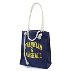 FRANKLIN&MARSHALL別注 プリントトート.2 ネイビー