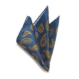 ペイズリープリントチーフ2 ブルー