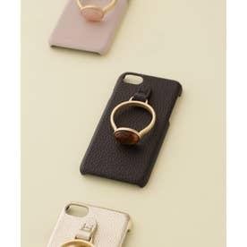 Hashibami/別注天然石リングモバイルケース iPhone7/8 ブラック
