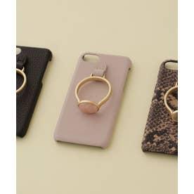 Hashibami/別注天然石リングモバイルケース iPhone7/8 ピンク