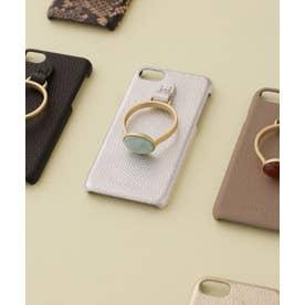 Hashibami/別注天然石リングモバイルケース iPhone7/8 シルバー