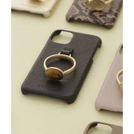 Hashibami/別注天然石リングモバイルケース iPhone11 ブラック