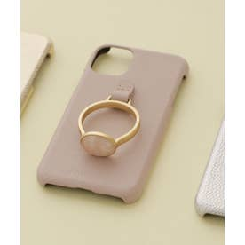 Hashibami/別注天然石リングモバイルケース iPhone11 ピンク