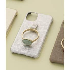 Hashibami/別注天然石リングモバイルケース iPhone11 シルバー