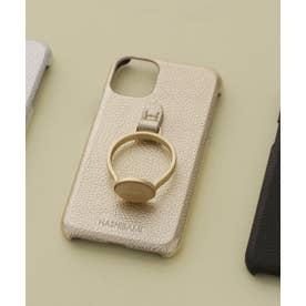 Hashibami/別注天然石リングモバイルケース iPhone11 ゴールド