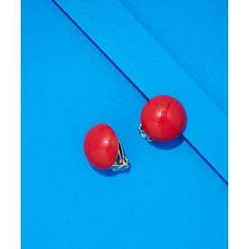Francine Bramli Paris/ボールイヤリング レッド