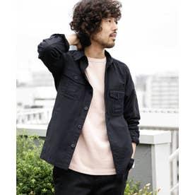 バックサテンライトミリタリーシャツ ブラック