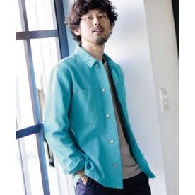 《WEB限定》タフシャツジャケット エメラルド3