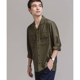 TWオープンカラーシャツ長袖 カーキ