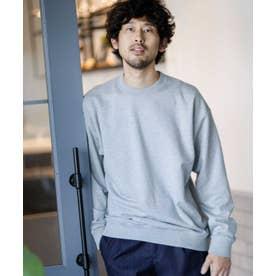 《WEB限定》キレイ目裏毛ドロップクルーネック トップグレー4