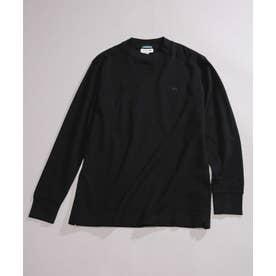LACOSTE/別注モックネックTシャツロングスリーブ ブラック