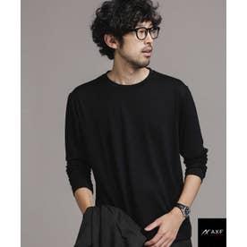 AXF feat ITALY WOOL ドレスTシャツ 長袖 ブラック
