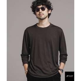 AXF feat ITALY WOOL ドレスTシャツ 長袖 ブラウン