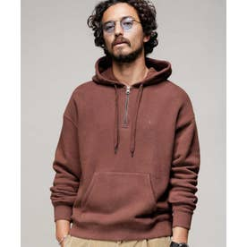 Champion:別注 HALF ZIP HOODED SWEATPARKA ブラウン