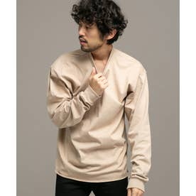 BAYSIDE リメイククルーネックTシャツ/長袖 ベージュ