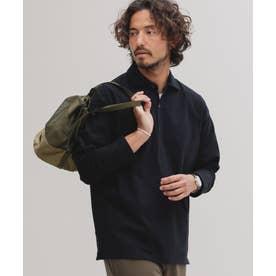 [快適男]ポロシャツ/長袖 ブラック
