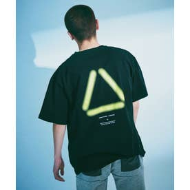 SUS別注 UFトライアングルTシャツ/半袖 ブラック