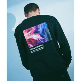 SUS別注 UFアブストラクトTシャツ/長袖 ブラック