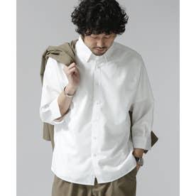 エントリーレギュラーBDシャツ/7分袖 ホワイト