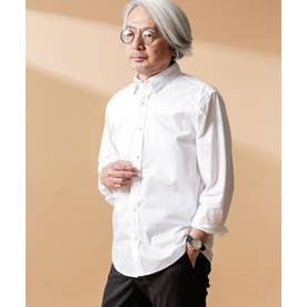 ジンナンテーラー [St.Thomas] 異素材BDシャツ ホワイト