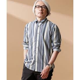ジンナンテーラー [Oleo] ストライプ BDシャツ パターン1