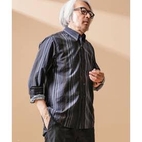 ジンナンテーラー [Oleo] ストライプ BDシャツ パターン21