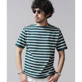 思いきり洗えるニットファインゲージバスクシャツ D.ターコイズ1