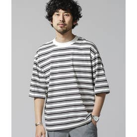 リバイバルボーダーTシャツ ホワイト