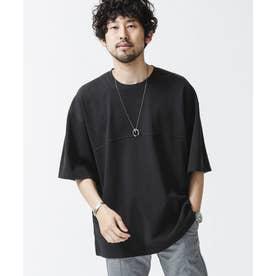 フットボールワイドTシャツ ブラック