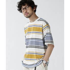 転換ボーダークルーネックTシャツ パターン1
