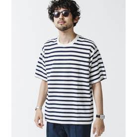 パイルボーダークルーネックTシャツ パターン1