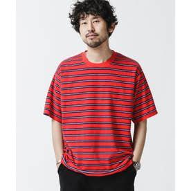 パイルボーダークルーネックTシャツ パターン21
