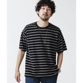 パイルボーダークルーネックTシャツ パターン32