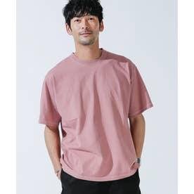 ピグメントクルーネックTシャツ ピンク