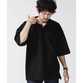 ビッグシルエットポロシャツ ブラック