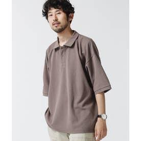 《WEB限定》ビッグシルエットポロシャツ グレージュ3
