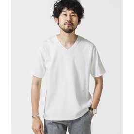 《イヤな臭いを軽減》Anti Smell VネックTシャツ 半袖 ホワイト