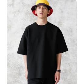 バックラグランライトウェイトニットTシャツ ブラック