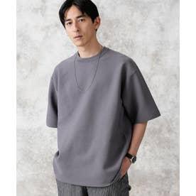 バックラグランライトウェイトニットTシャツ グレー