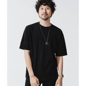《WEB限定》パーツニッティングドライニットTシャツ ブラック