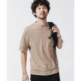 《WEB限定》パーツニッティングドライニットTシャツ ベージュ