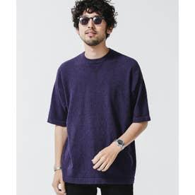 パイルRELAXガゼットニットTシャツ ネイビー