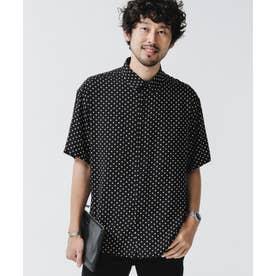 ポルカドットレギュラーカラーシャツ ブラック