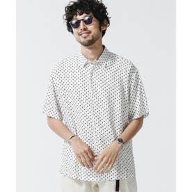 ポルカドットレギュラーカラーシャツ ホワイト