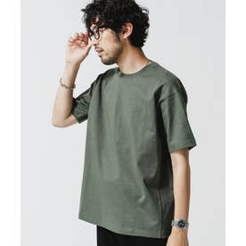 NO MUFFINスタンディングクルーネックTシャツ カーキ